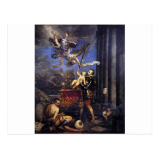 Philip II Offering Don Fernando to Victory Titian Postcard