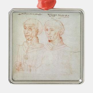 Philip III the Good Silver-Colored Square Decoration