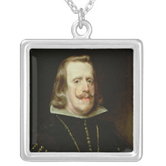 Philip IV  of Spain, c.1656 Silver Plated Necklace
