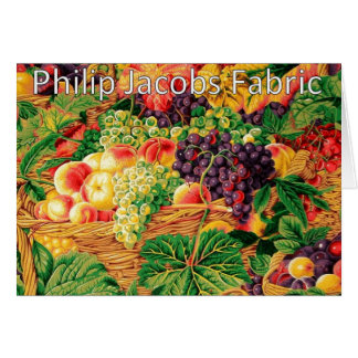 Philip Jacobs Fabric, Market Baskets Card. Card