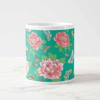 Philip Jacobs Fabric Peonies and Butterfly Mug