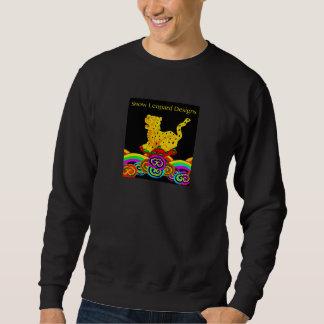 Philip Jacobs Fabric Snow Leopard Sweat Shirt