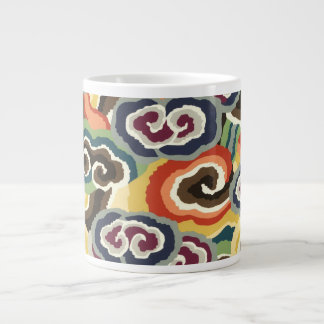 Philip Jacobs Fabric, Tibetan Cloud Scroll Mug. Large Coffee Mug