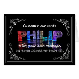 Philip -  Name in Lights greeting card (Photo)