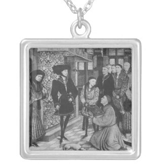 Philip the Good, Duke of Burgundy Silver Plated Necklace