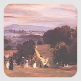 Philip Wilson Steer- Ludlow Walks Square Stickers