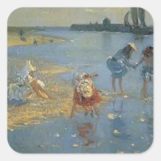 Philip Wilson Steer-Walberswick. Children Paddling Stickers