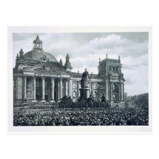 Philipp Scheidemann (1865-1939) gives an address f Postcard