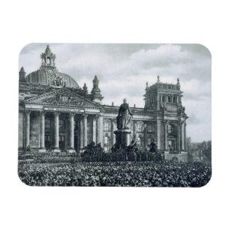 Philipp Scheidemann (1865-1939) gives an address f Rectangular Photo Magnet