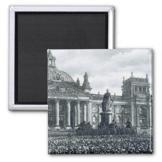 Philipp Scheidemann (1865-1939) gives an address f Square Magnet