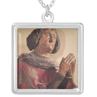 Philippe de Commynes  from his tomb Silver Plated Necklace
