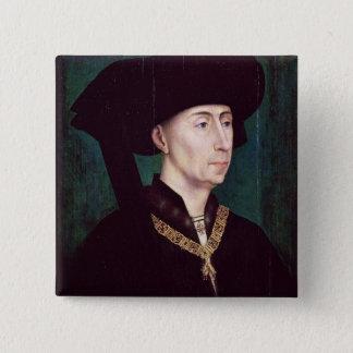 Philippe III  le Bon, Duc de Bourgogne, c.1445 15 Cm Square Badge
