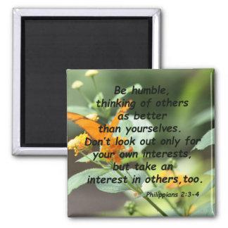 Philippians 2:3-4 square magnet