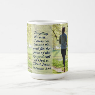 Philippians 3:14 Bible Verse, Girl Running Coffee Mug