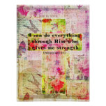 Philippians 4:13  BIBLE quote christian art Posters
