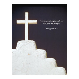 PHILIPPIANS 4:13 Bible Verse 21.5 Cm X 28 Cm Flyer