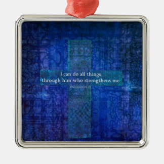 Philippians 4:13 BIBLE VERSE Christmas Ornament
