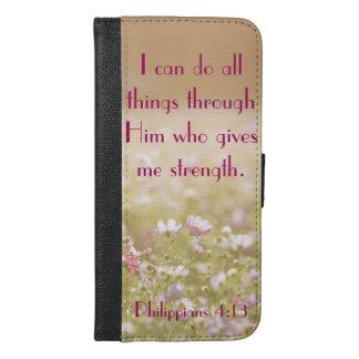 Philippians 4:13 Bible Verse Flower Field Photo
