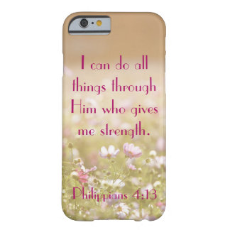 Philippians 4:13 Bible Verse Flower Field Photo Barely There iPhone 6 Case
