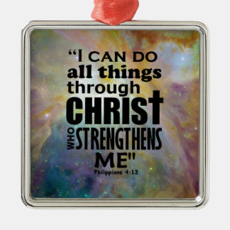 Philippians 4:13 christmas ornament