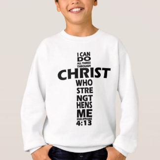 PHILIPPIANS 4:13 - CROSS - I CAN DO ALL THINGS SWEATSHIRT