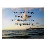 PHILIPPIANS 4:13 HOPE POSTER