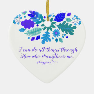 Philippians 4:13 – I Can Do All Things - Verse Christmas Ornament