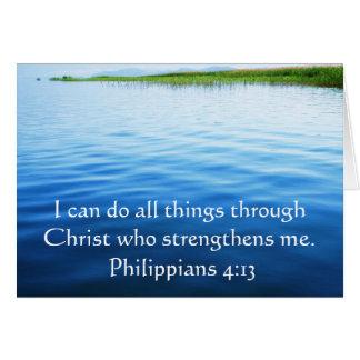 Philippians 4:13 inspiring Bible verse Card