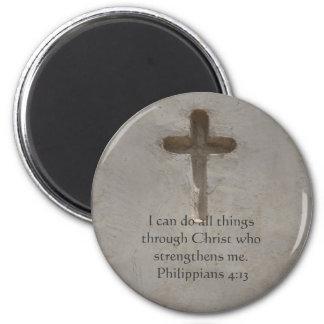Philippians 4:13 inspiring Bible verse Magnet