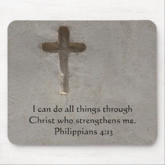 Philippians 4:13 inspiring Bible verse Mouse Mat