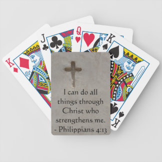 Philippians 4:13 inspiring Bible verse Poker Deck
