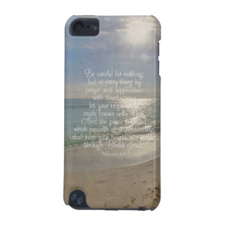 Philippians 4:13 Peace Bible Verse Beach Christian iPod Touch (5th Generation) Cover