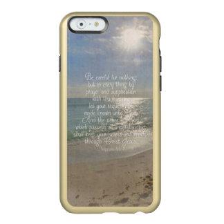 Philippians 4:13 Peace Bible Verse Beach Christian Incipio Feather® Shine iPhone 6 Case