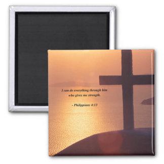 PHILIPPIANS 4:13 SQUARE MAGNET