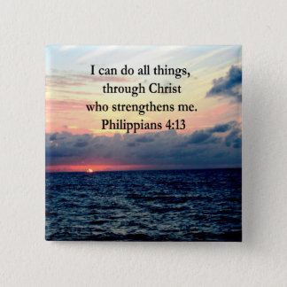 PHILIPPIANS 4:13 SUNRISE DESIGN 15 CM SQUARE BADGE