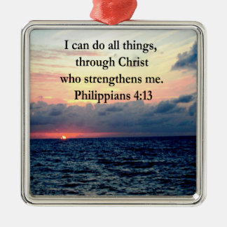PHILIPPIANS 4:13 SUNRISE DESIGN CHRISTMAS ORNAMENT