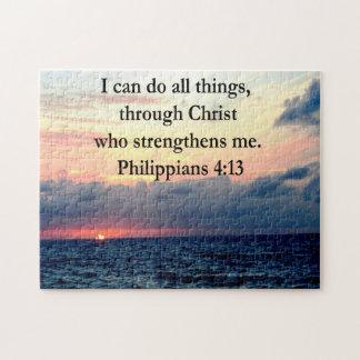 PHILIPPIANS 4:13 SUNRISE DESIGN JIGSAW PUZZLE