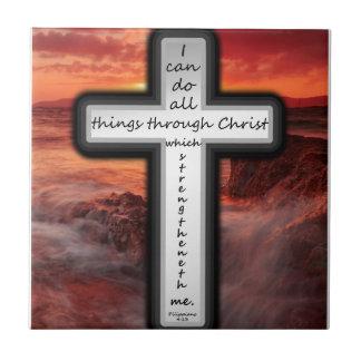 Philippians 4:13 tile