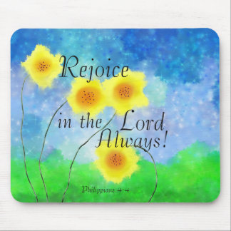 Philippians 4:4 Bible, Rejoice in the Lord Always Mouse Mat