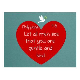 Philippians 4:5 postcard
