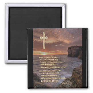 Philippians 4:6 christian gifts magnet