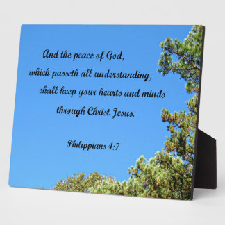 Philippians 4:7 And the peace of God.... Plaque