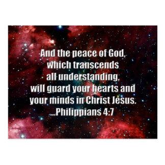 Philippians 4:7 Bible Verse Custom Postcard