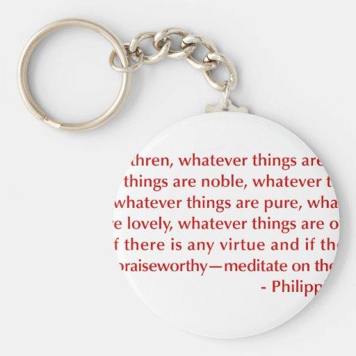 Philippians-4-8-opt-burg.png Key Chain