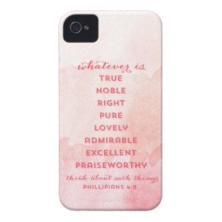 Philippians 4:8 - Watercolor Ombre - iPhone Case