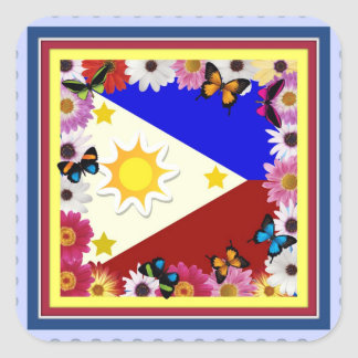 Philippine Flag Design - Filipino Sticker