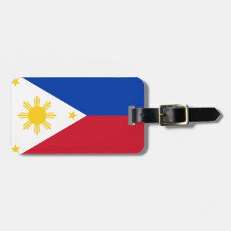 Philippine flag luggage tag