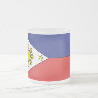 Philippine Flag (Mug) Frosted Glass Coffee Mug