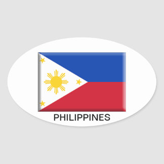 Philippine Flag - Oval Sticker