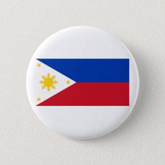 Philippine Flag, Philippine Islands National Flag 6 Cm Round Badge